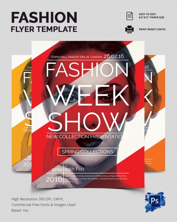 Fashion Show Flyer Template Fresh 22 Fashion Flyer Psd Templates & Designs
