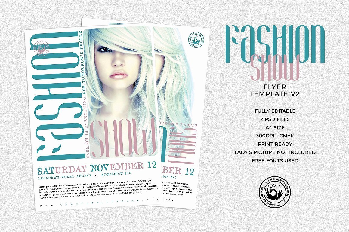 fashion show flyer template 2