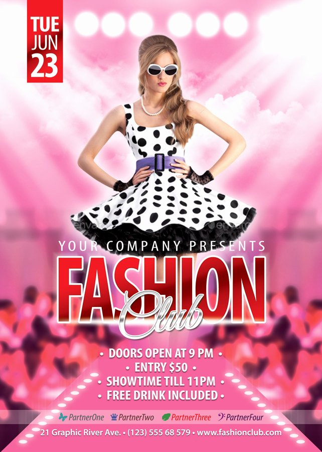 Fashion Show Flyer Template Fresh Free Fashion Show Flyer Template Fashion Templates Data