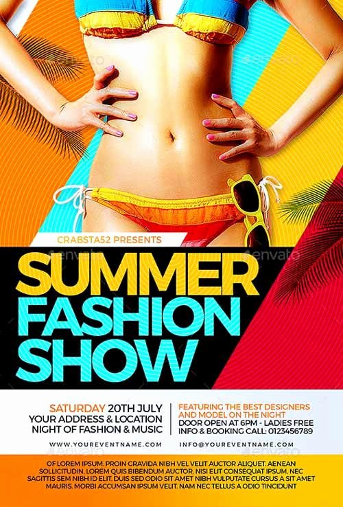 Fashion Show Flyer Template Fresh Summer Fashion Show Flyer Template