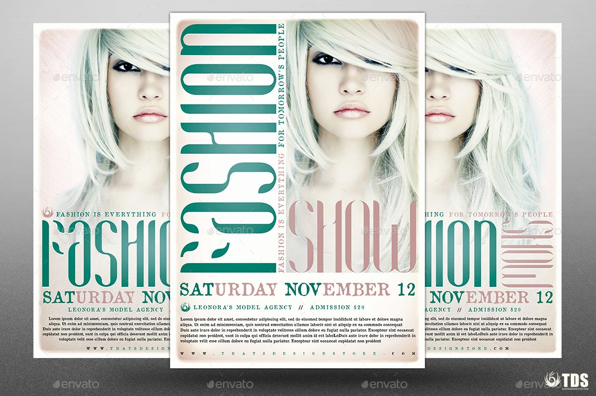 Fashion Show Flyer Template Inspirational Fashion Show Flyer Template V2 by Lou606
