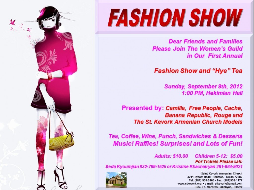 Fashion Show Flyer Template Inspirational September events – St Kevork Armenian Church