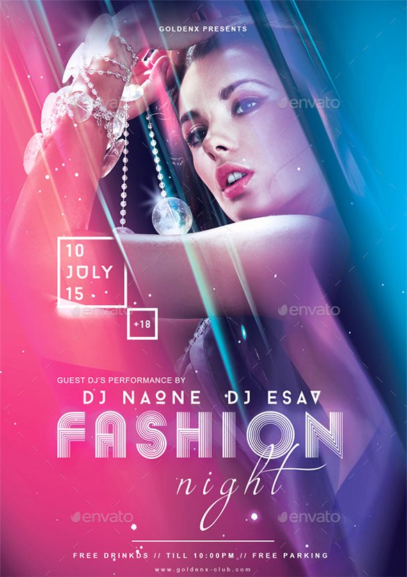Fashion Show Flyer Template Lovely 24 Fashion Flyer Psd Templates & Designs