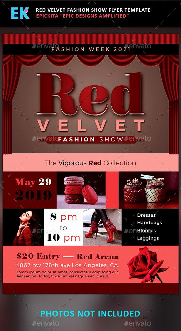 Fashion Show Flyer Template Lovely Red Velvet Fashion Show Flyer Template by Epickita