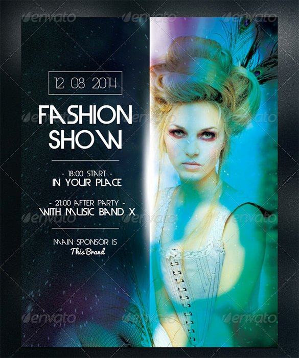 Fashion Show Flyer Template Luxury 24 Fashion Flyer Psd Templates & Designs