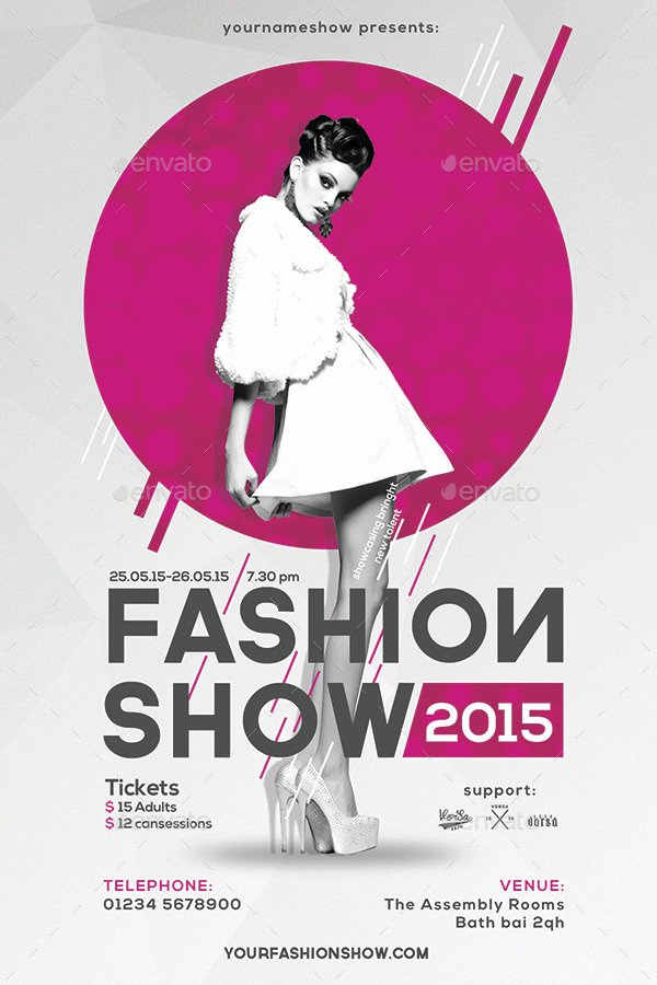 Fashion Show Flyer Template Luxury Fashion Show Flyer by Vorsa