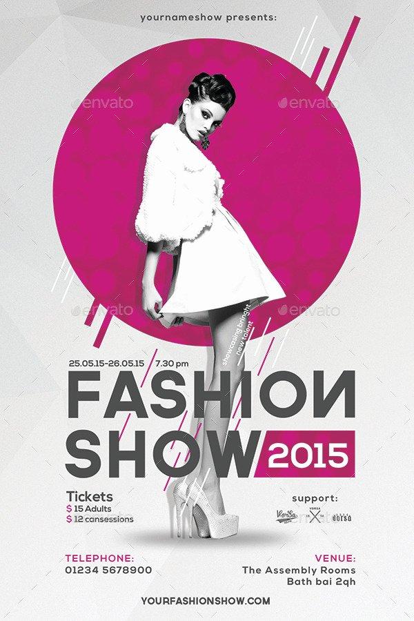 Fashion Show Flyer Template Luxury Fashion Show Flyer by Vorsa