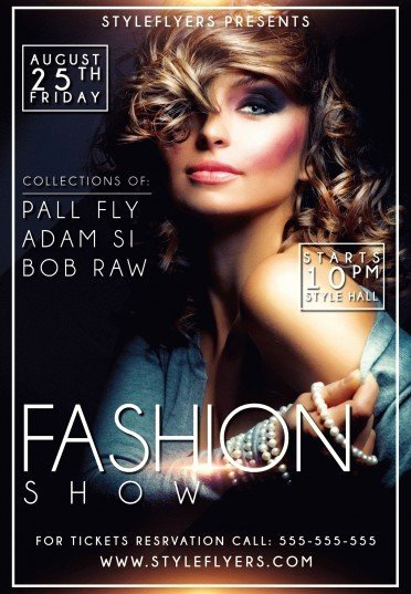 Fashion Show Flyer Template Luxury Fashion Show Psd Flyer Template 9555 Styleflyers
