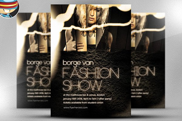 Fashion Show Flyer Template New Fashion Show Flyer Template On Behance