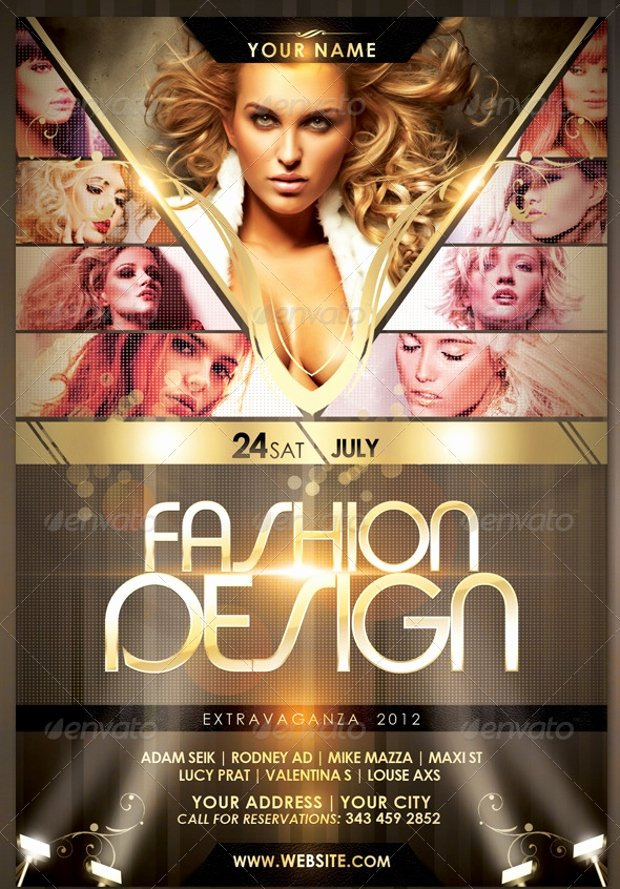 Fashion Show Flyer Template Unique 21 Fashion Flyer Designs Psd Download