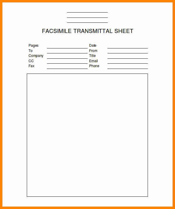 Fax Template Microsoft Word Awesome 6 Fax Templates Free