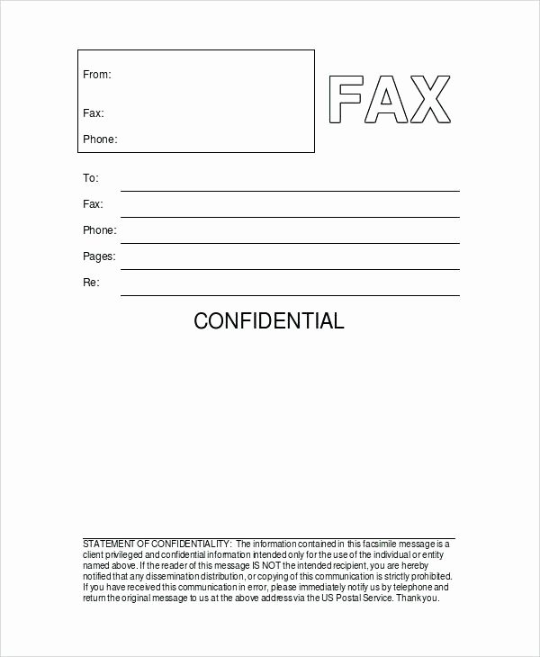 Fax Template Microsoft Word Beautiful Blank Fax Cover Sheets Sheet Word Intended for Sample