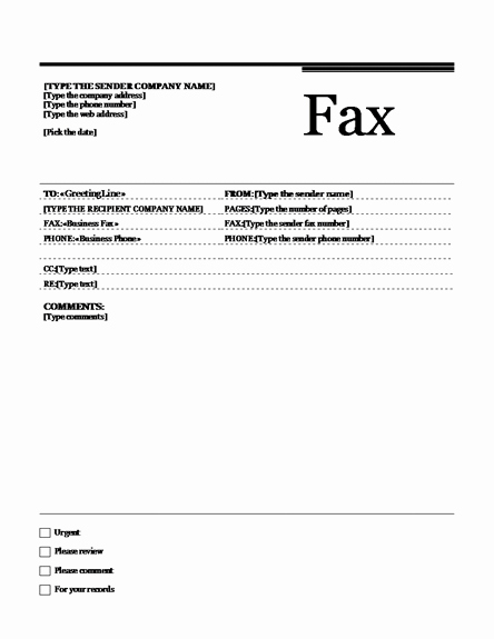 Fax Template Microsoft Word Best Of Fax Template Fax Templates