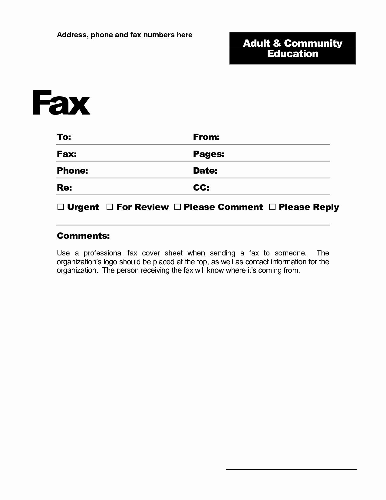 Fax Template Microsoft Word Best Of Microsoft Fice Fax Template Portablegasgrillweber