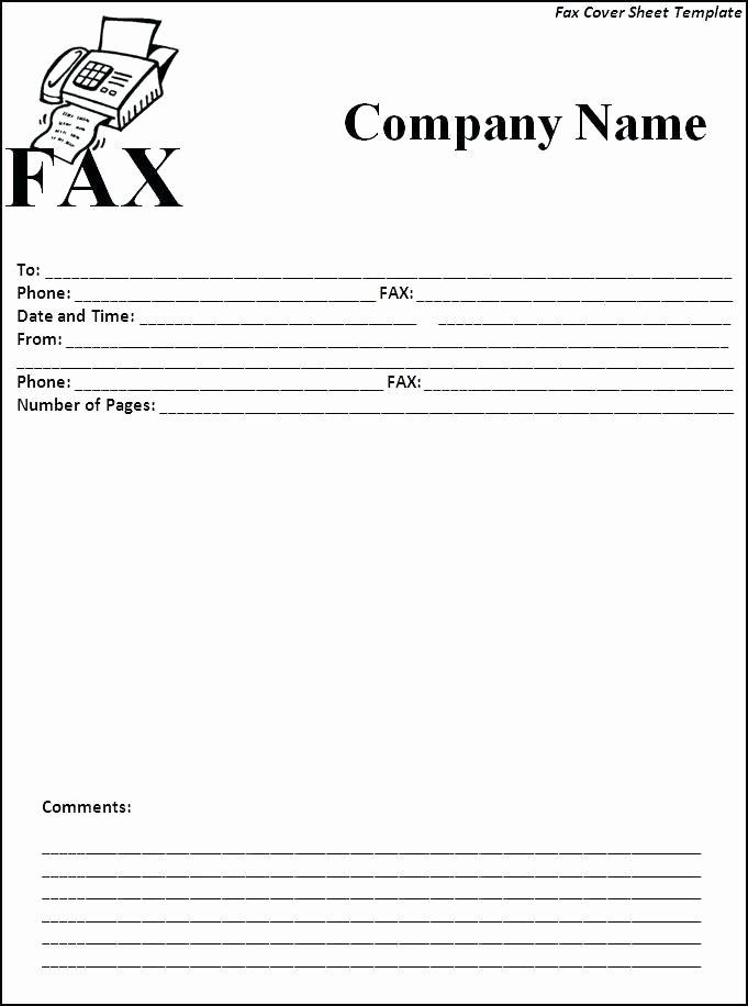 Fax Template Microsoft Word New Microsoft Fice Fax Template Fax Cover Sheet Template