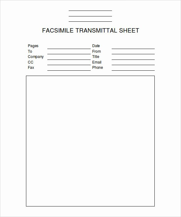Fax Template Microsoft Word Unique Fax Cover Sheet Template 14 Free Word Pdf Documents