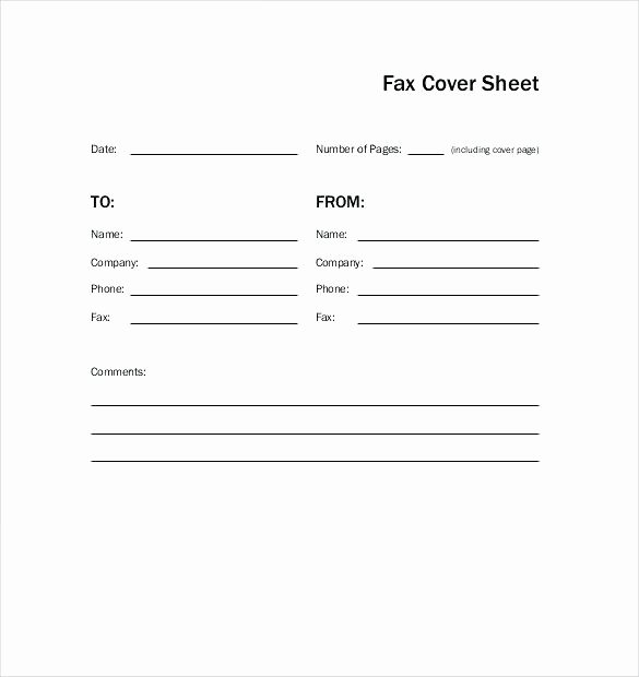 Fax Template Microsoft Word Unique Stars Blank Fax Cover Sheet Word format Printablefax Free
