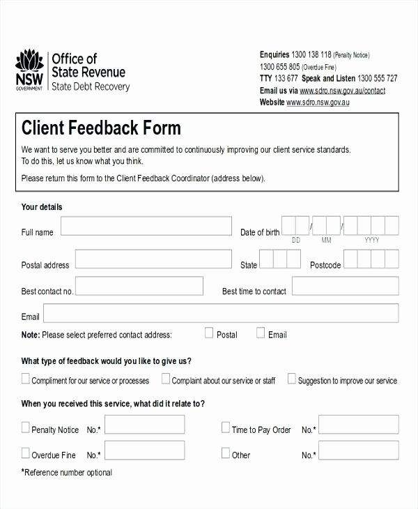 Feedback form Template Word Beautiful Freewarearenafo
