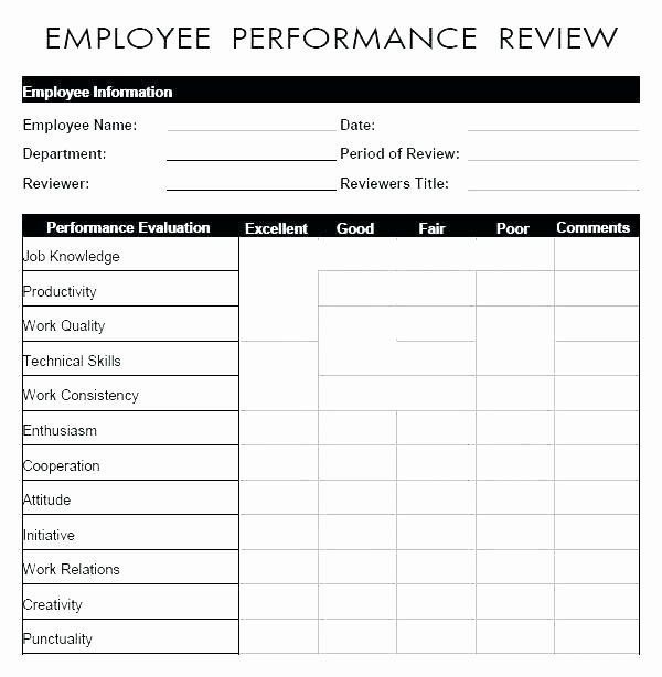 Feedback form Template Word Beautiful Job Evaluation form Template Sample Evaluation forms form