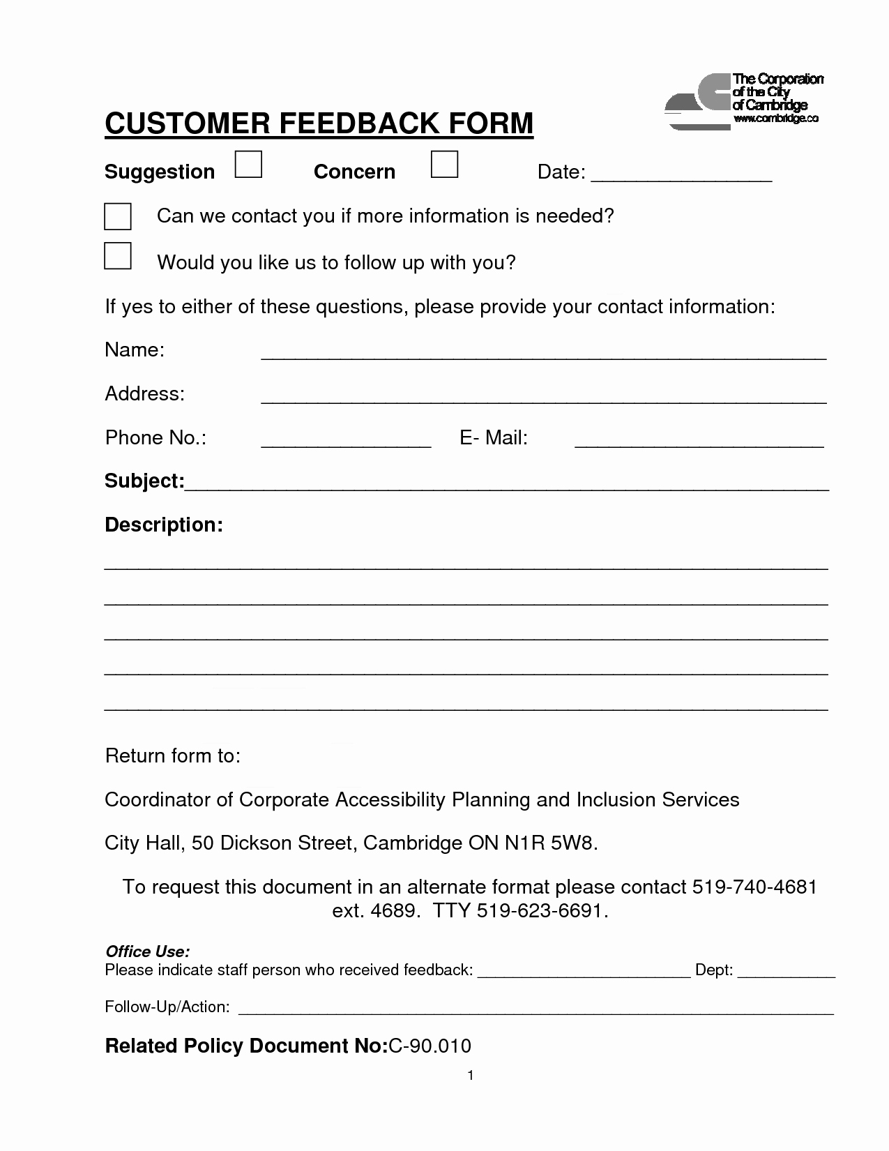 Feedback form Template Word Lovely Image Result for Customer Feedback form Template Word
