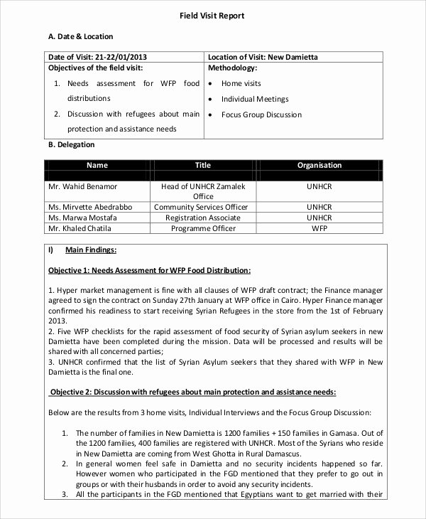 Field Service Report Template Best Of 16 Visit Report Templates Free Word Pdf Doc Apple