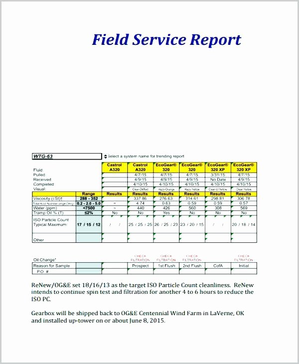Field Service Report Template Best Of Trip Report Template In Field Example format Doc