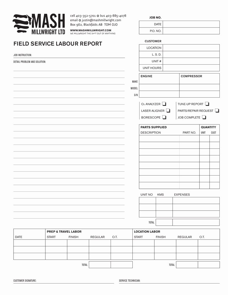 Field Service Report Template Lovely Field Report – after – Foxtail Studio