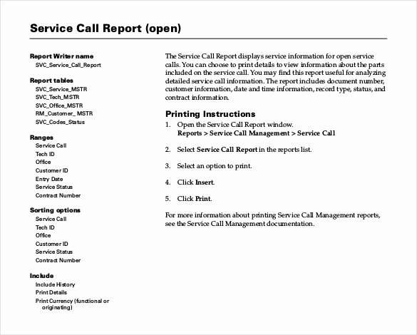 Field Service Report Template Lovely Sample Service Report Template 25 Free Word Pdf Apple