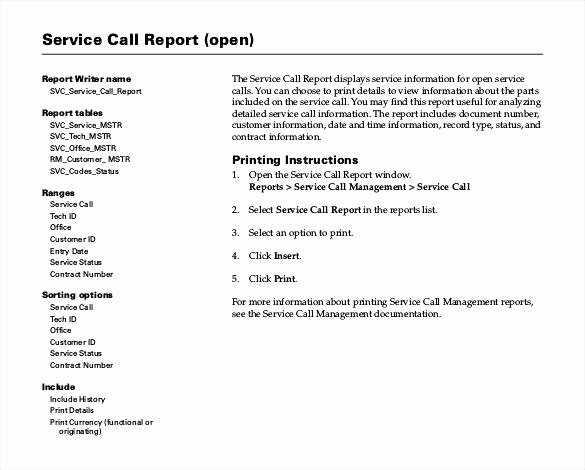 Field Service Report Template Unique Equipment Failure Tracking software Chart Machine