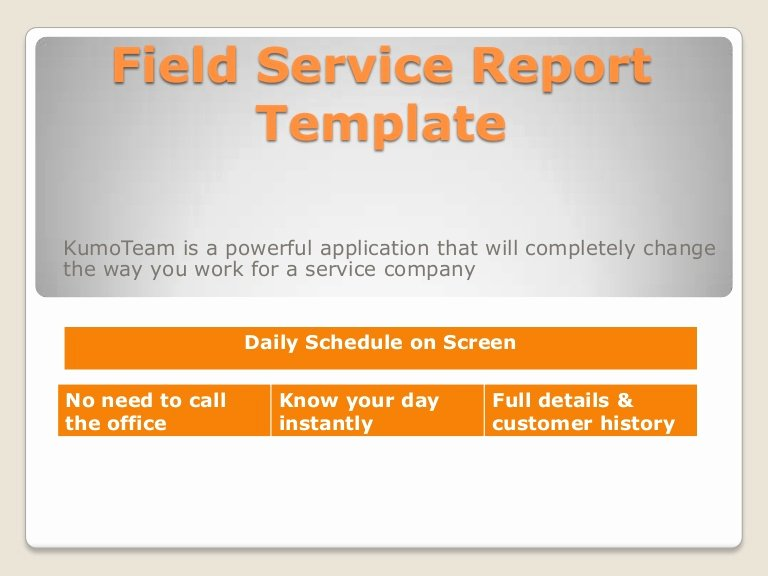 Field Service Report Template Unique Field Service Report Template