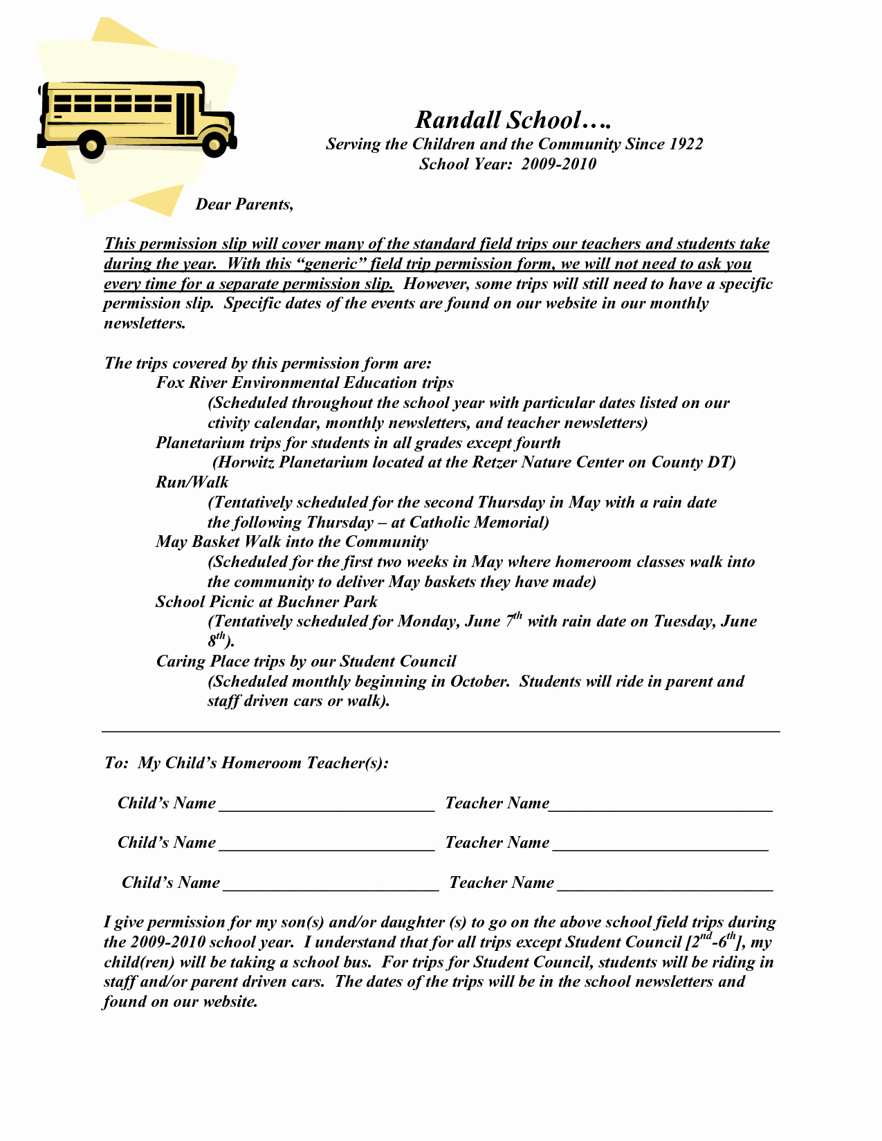 Field Trip form Template Awesome Permission Slip Template