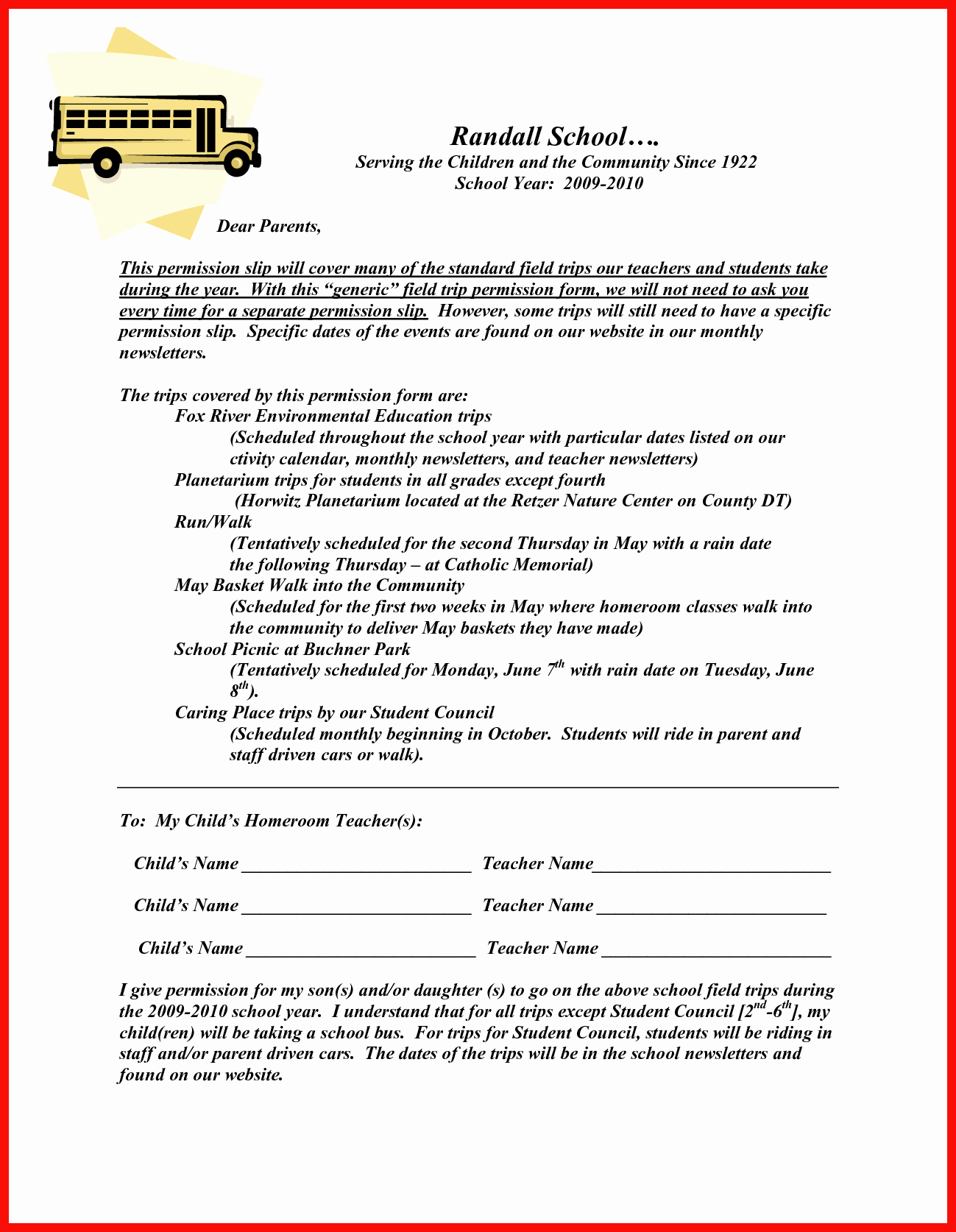 Field Trip form Template Beautiful Field Trip Permission Slip