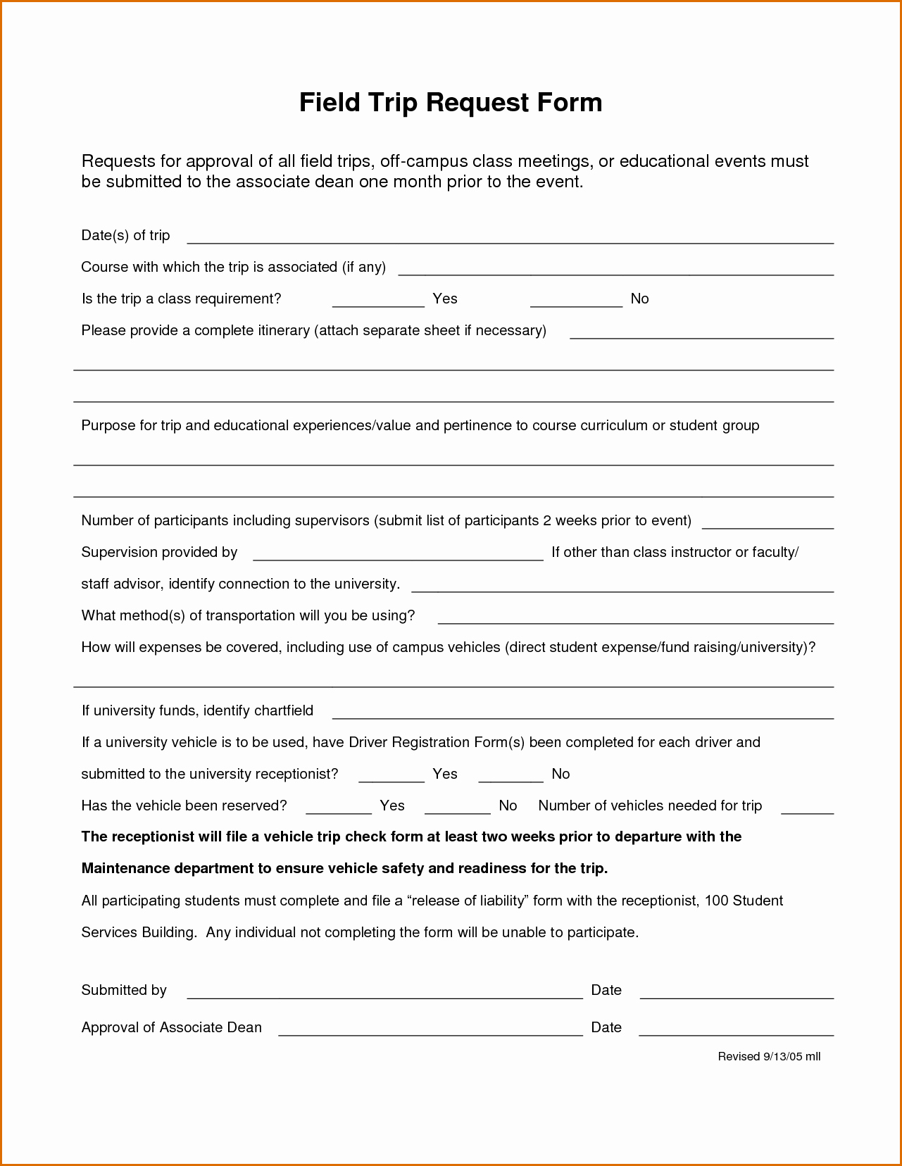 Field Trip form Template Luxury 7 Field Trip form Template