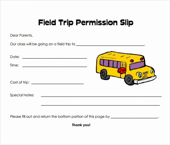 Field Trip form Template Unique 15 Permission Slip Samples