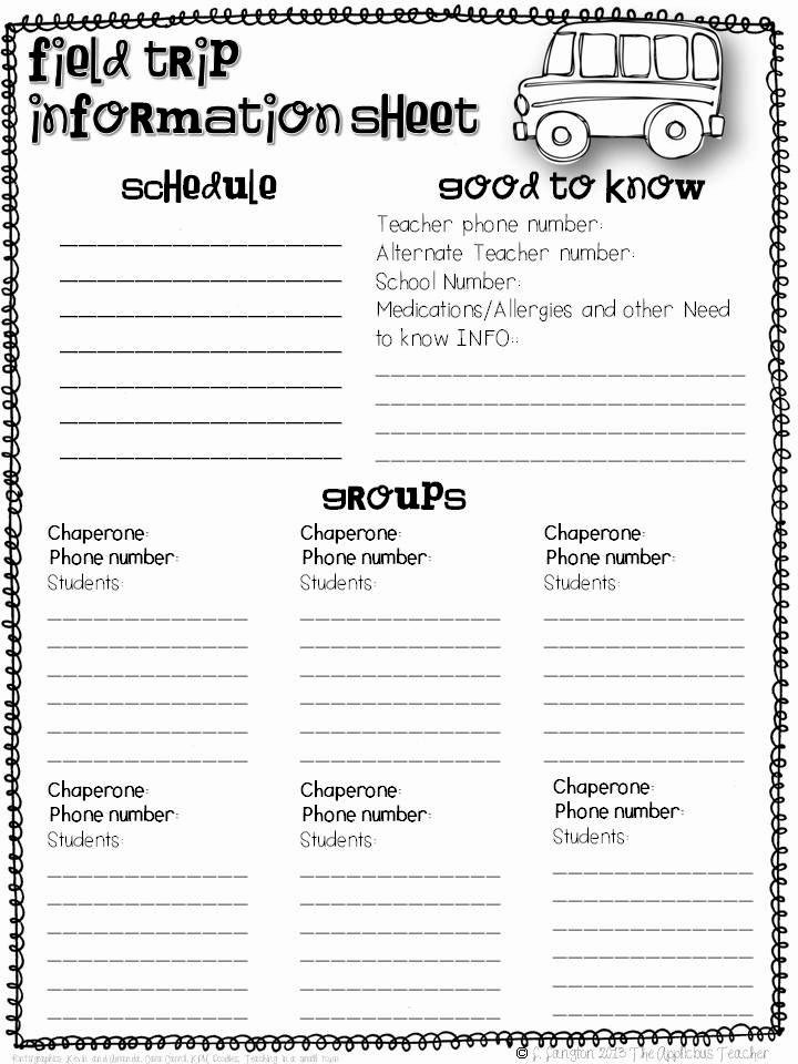 Field Trip form Template Unique Planning A Stress Free Field Trip