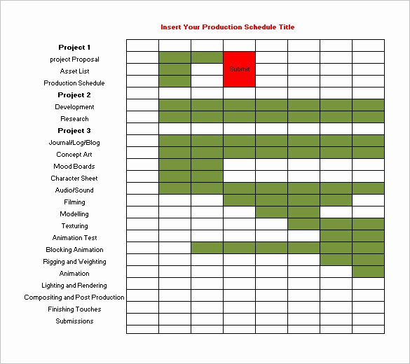 Film Production Schedule Template Awesome 13 Production Schedule Templates Pdf Doc