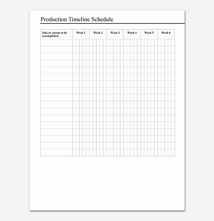 Film Production Schedule Template Best Of Production Timeline Template 16 Samples Examples
