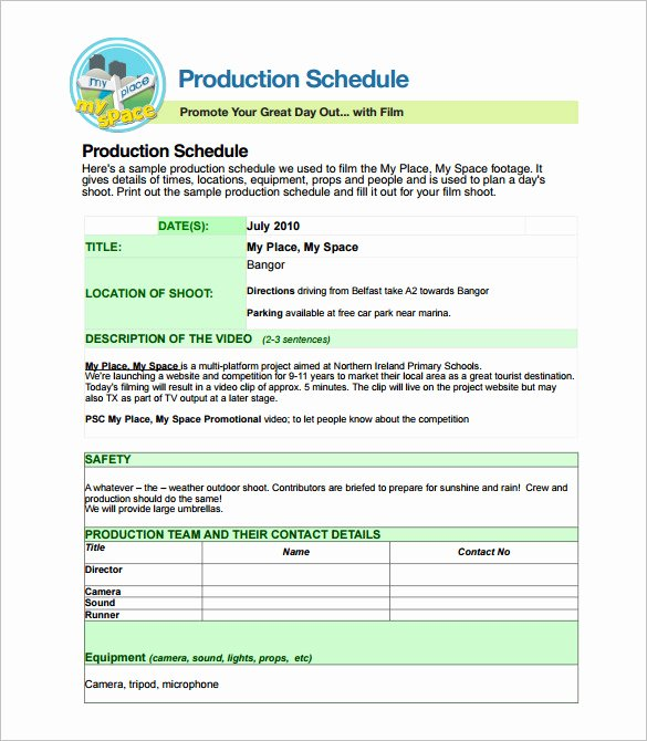 Film Production Schedule Template Elegant 29 Production Scheduling Templates Pdf Doc Excel
