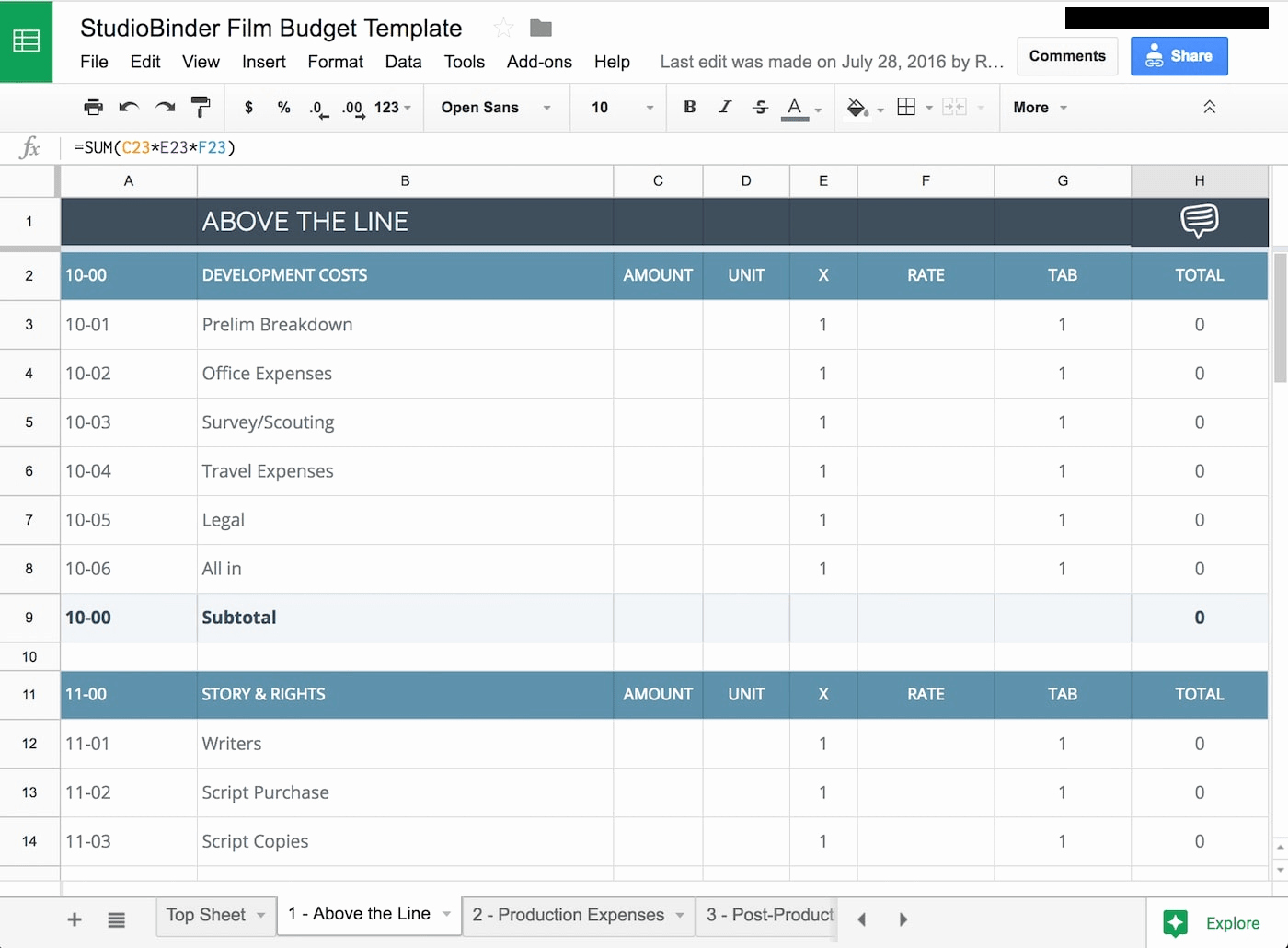 Film Production Schedule Template Elegant Download Your Free Bud Template for & Video