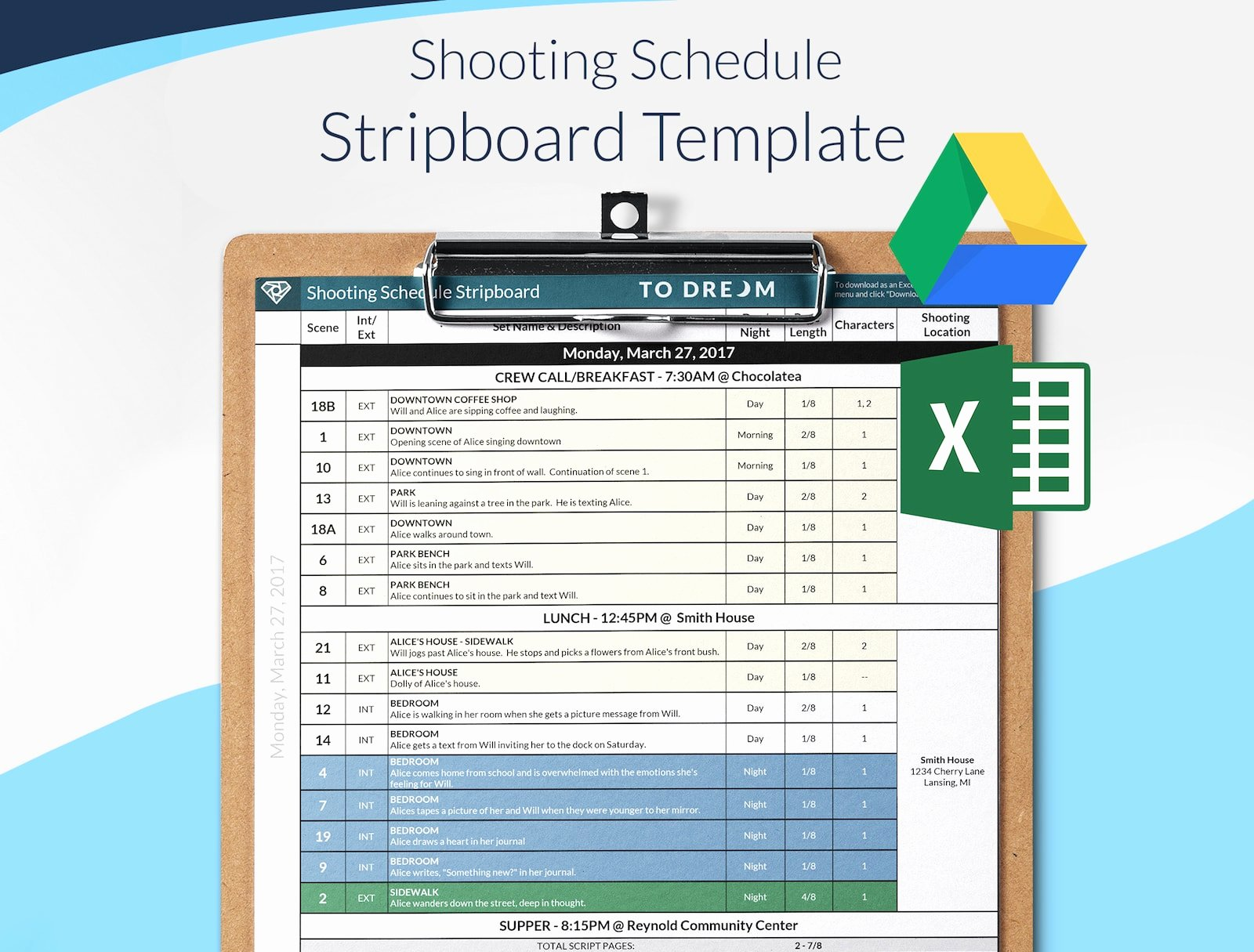 Film Production Schedule Template Inspirational Production Templates Free Downloads