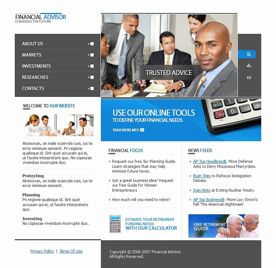 Financial Advisor Website Template Awesome Financial Advisor Website Template Web Design Templates