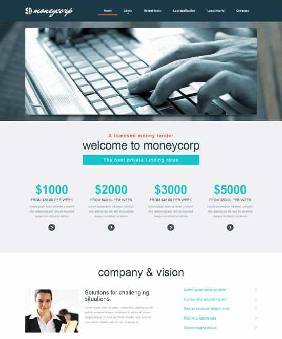 Financial Advisor Website Template Beautiful 50 Best Financial Website Templates Free & Premium