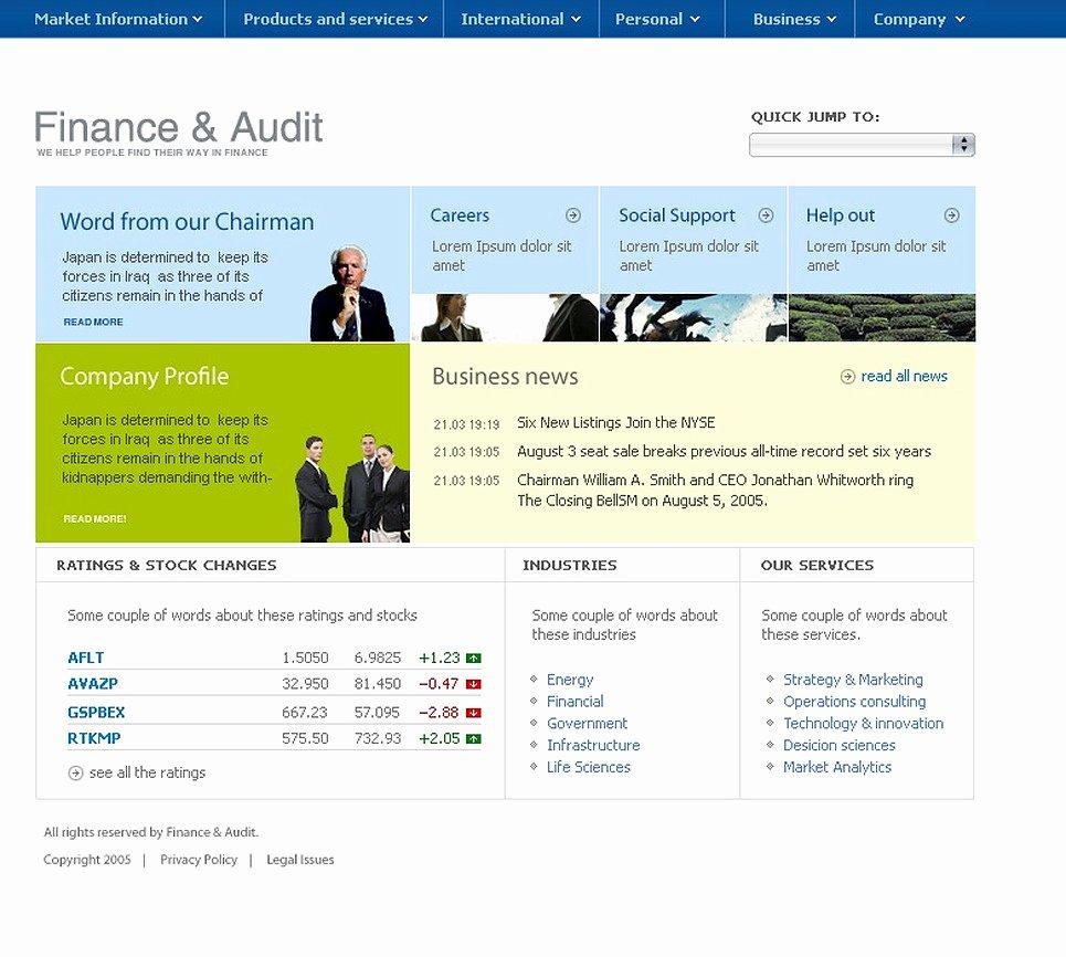 Financial Advisor Website Template Beautiful Financial Advisor Website Template 9515