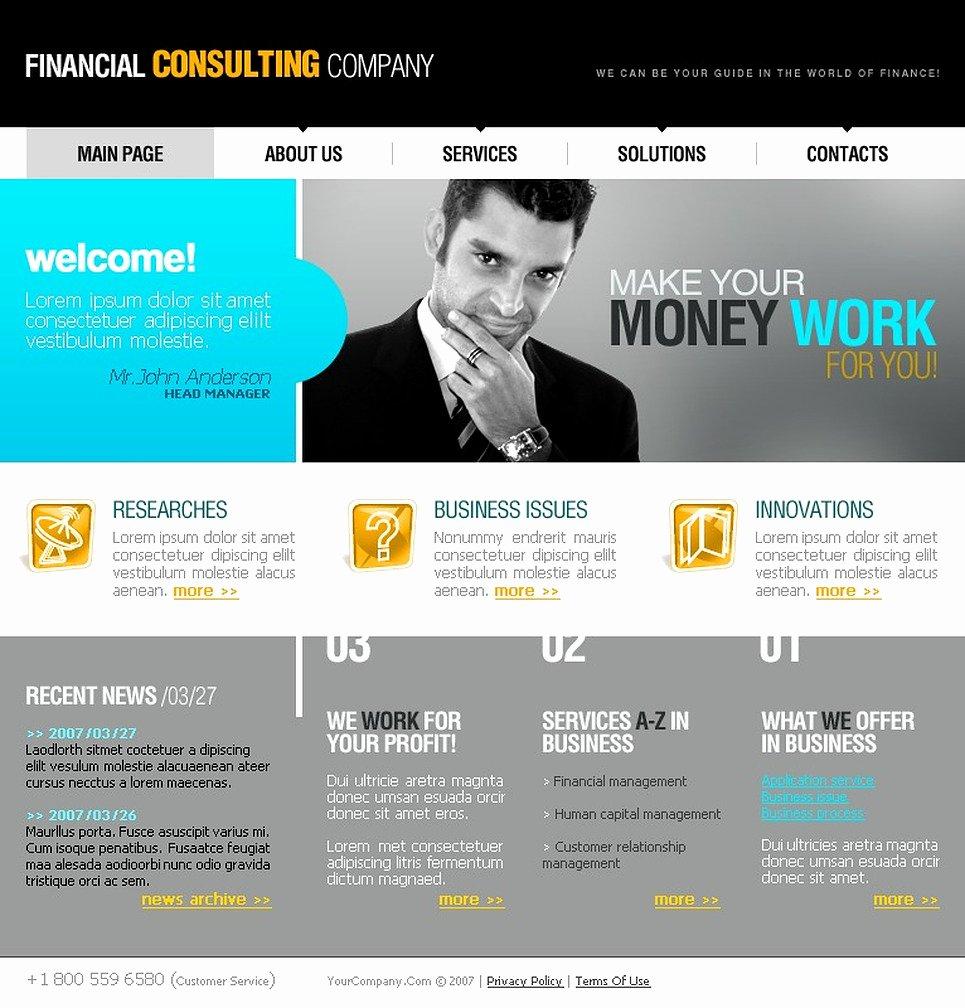 Financial Advisor Website Template Beautiful Financial Advisor Website Template