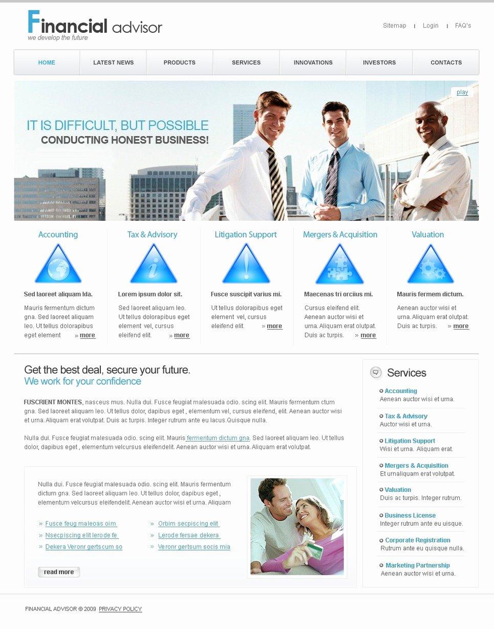 Financial Advisor Website Template Best Of Financial Advisor Website Template