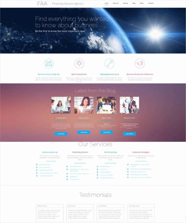 Financial Advisor Website Template Elegant 15 Best Website Templates for Financial Advisors