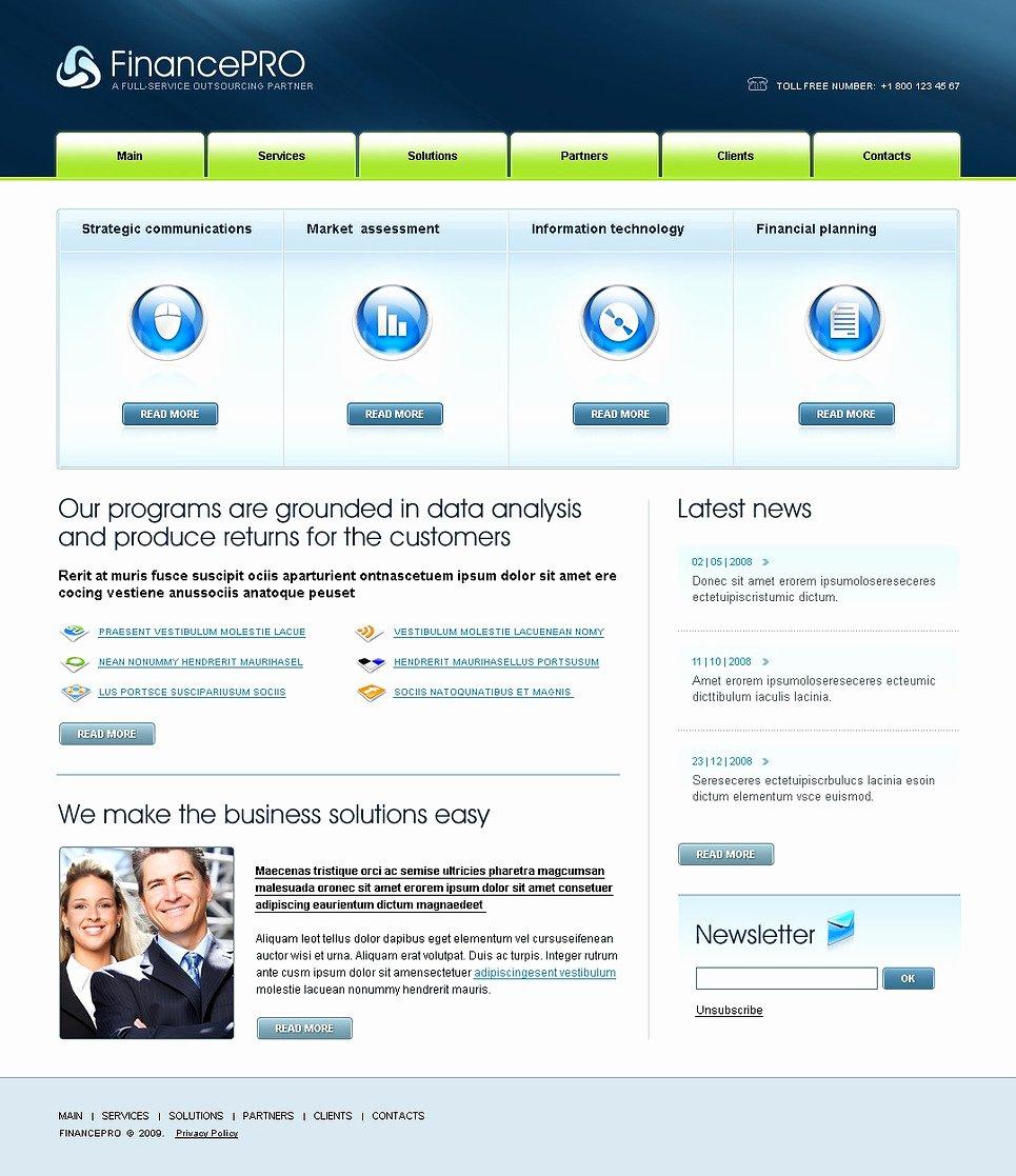 Financial Advisor Website Template Elegant Financial Advisor Website Template