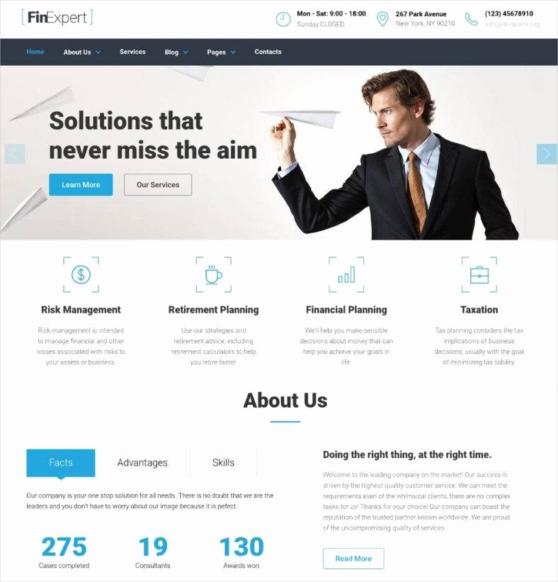 Financial Advisor Website Template Fresh 17 Best Financial Advisor Website Templates