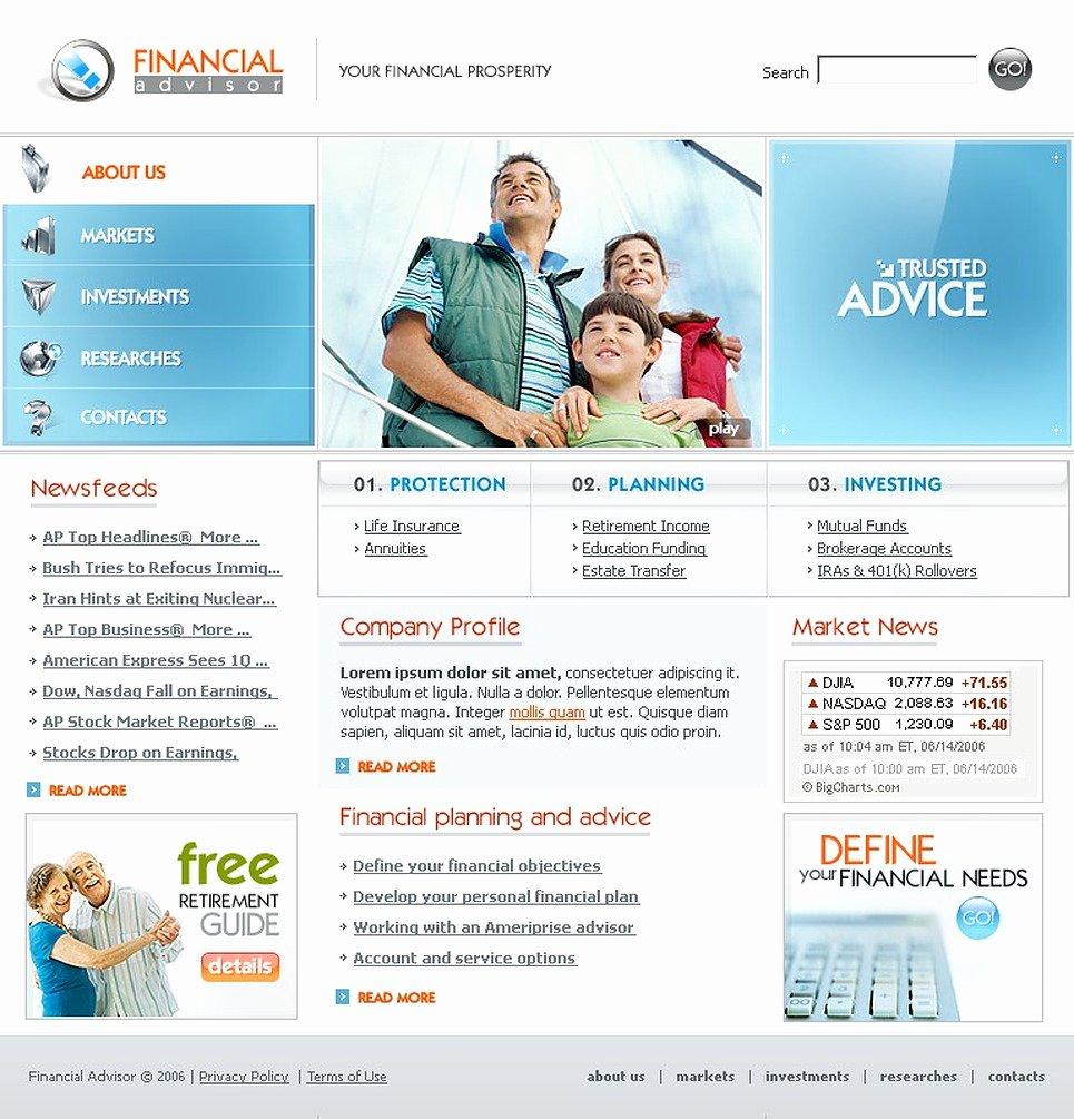 Financial Advisor Website Template Fresh Financial Advisor Website Template