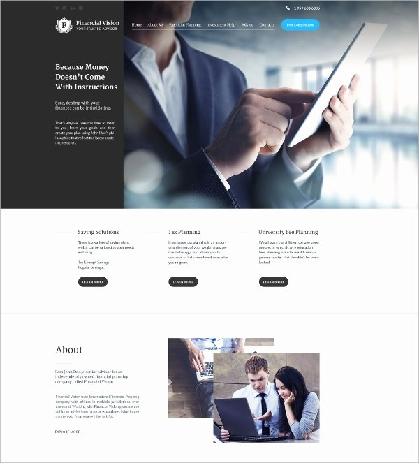 Financial Advisor Website Template Lovely 24 Financial Website themes & Templates